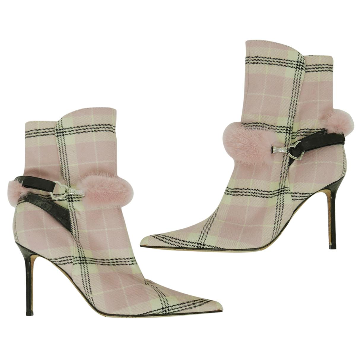John Galliano \N Stiefeletten in  Rosa Tweed
