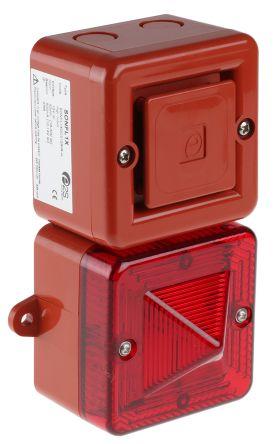 e2s SONFL1X-HO Sounder Beacon 100dB, Red Xenon, 12 V dc, IP66, IP67