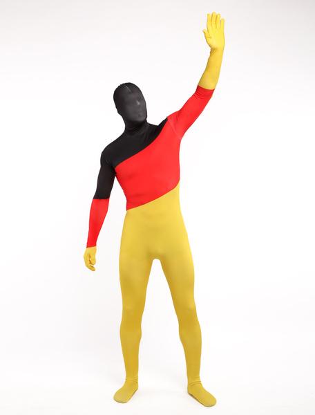 Milanoo Disfraz Halloween Zentai de elastano de marca LYCRA con estampado de bandera nacional de Alemania Halloween