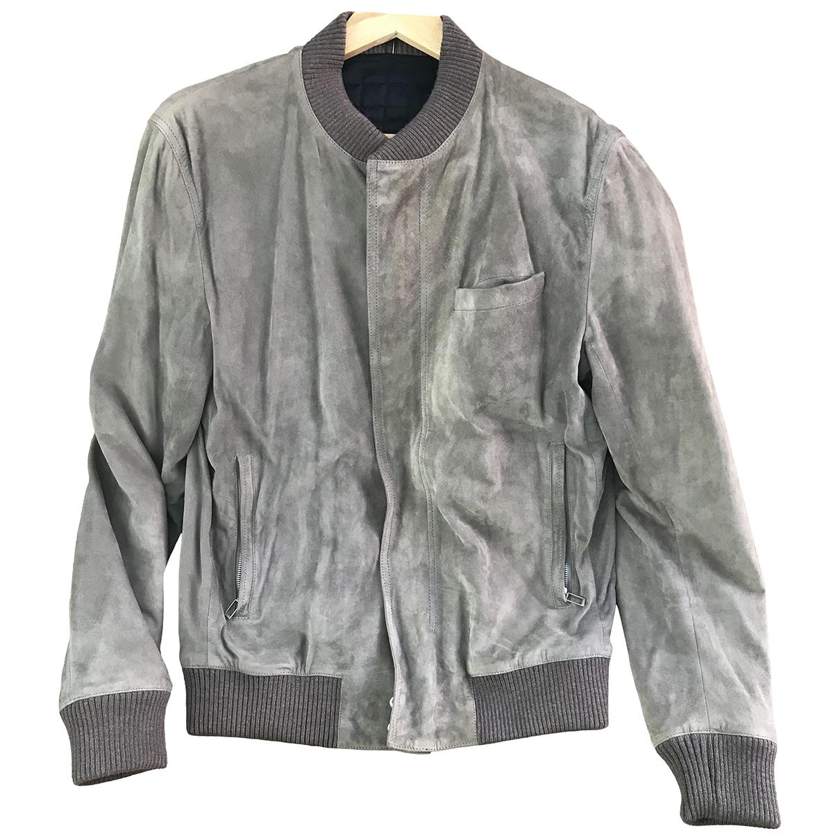 Dior Homme \N Grey Suede jacket  for Men 50 IT