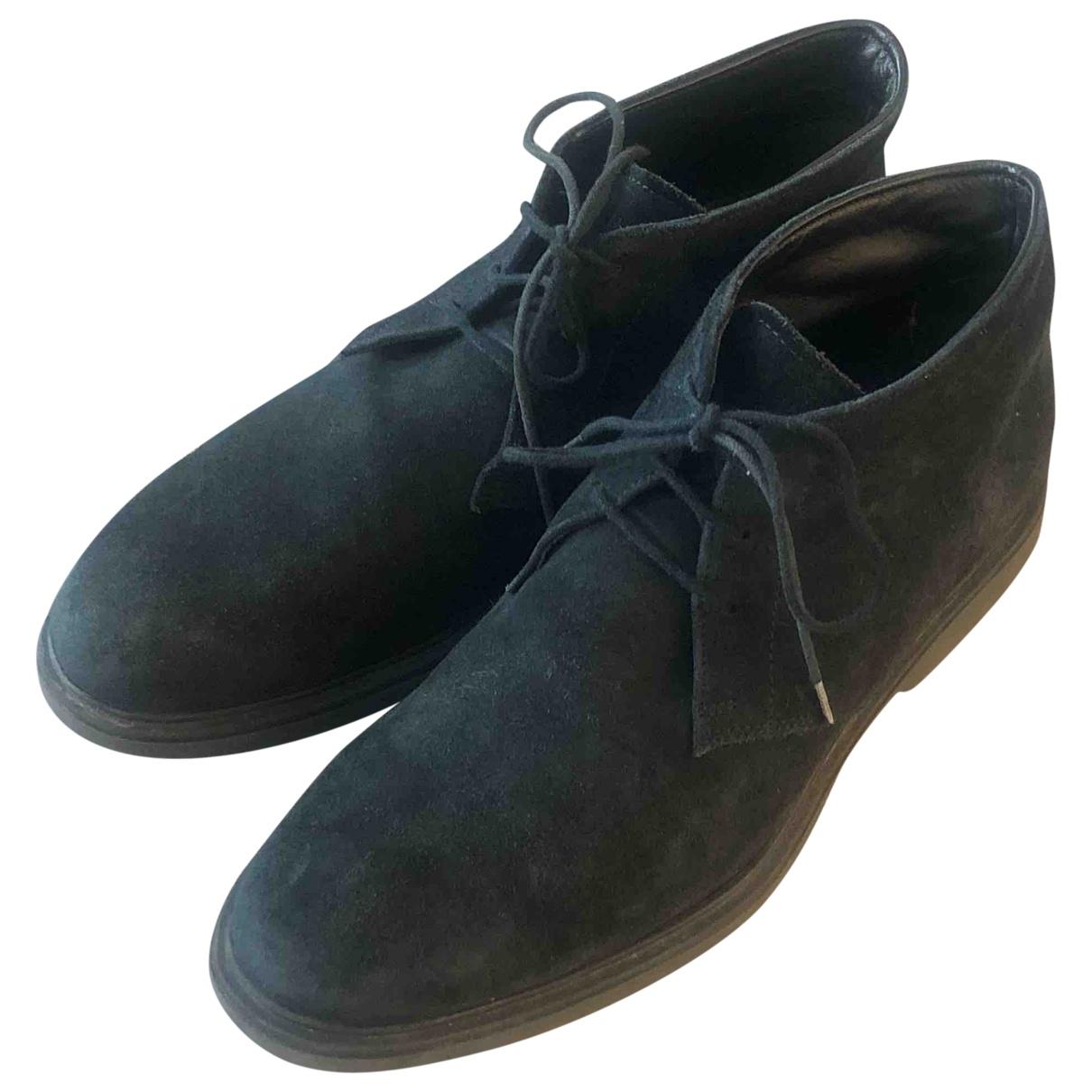 Hogan \N Blue Suede Boots for Men 8 UK