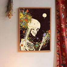 Skull Print Wall Painting Without Frame