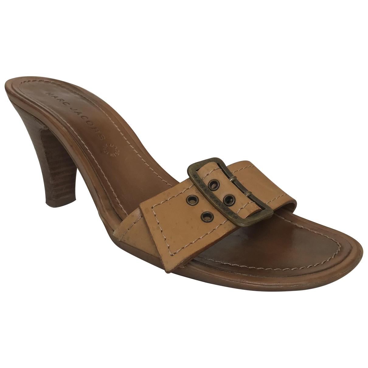 Marc Jacobs - Sandales   pour femme en cuir - beige