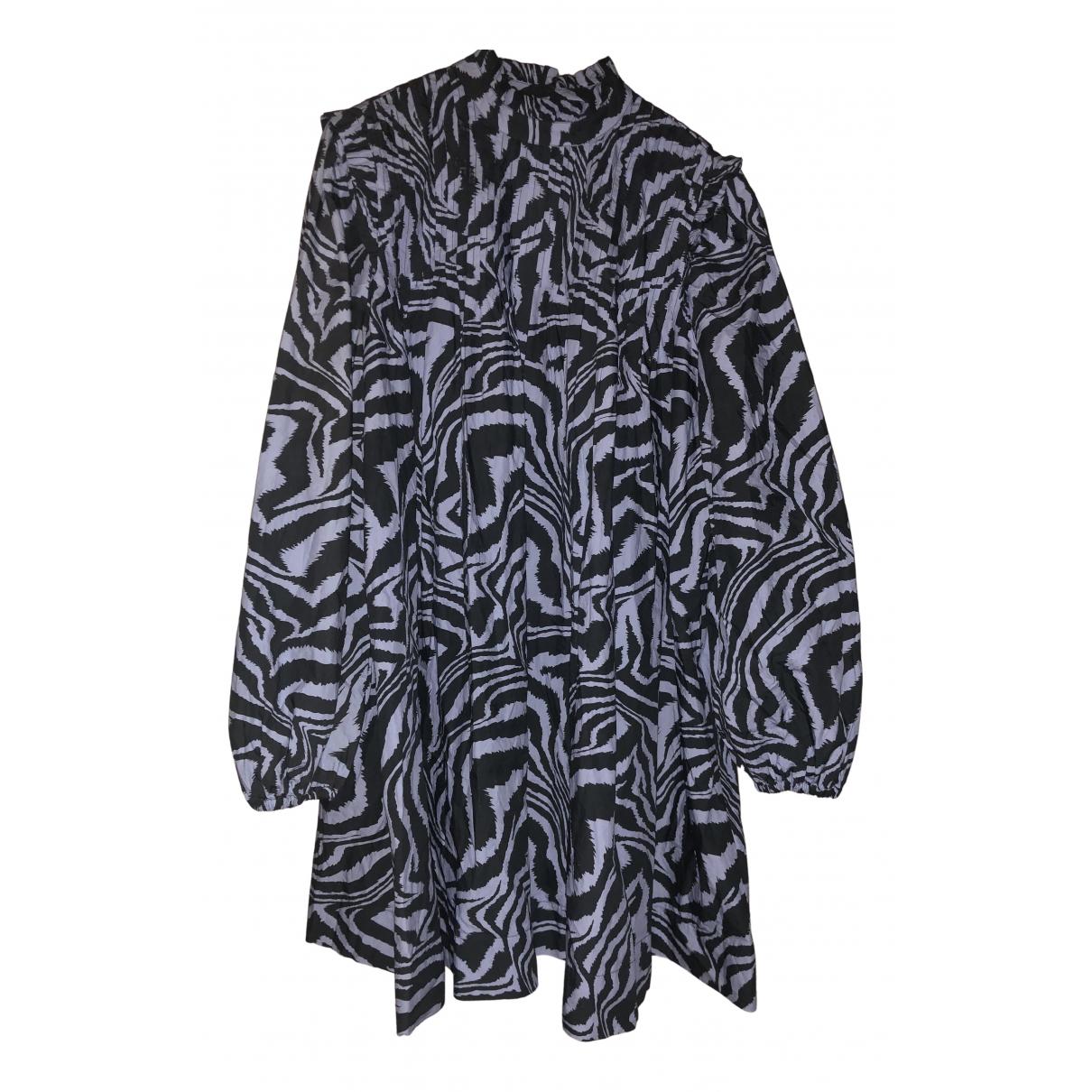 Ganni Spring Summer 2019 Blue Cotton dress for Women 36 FR