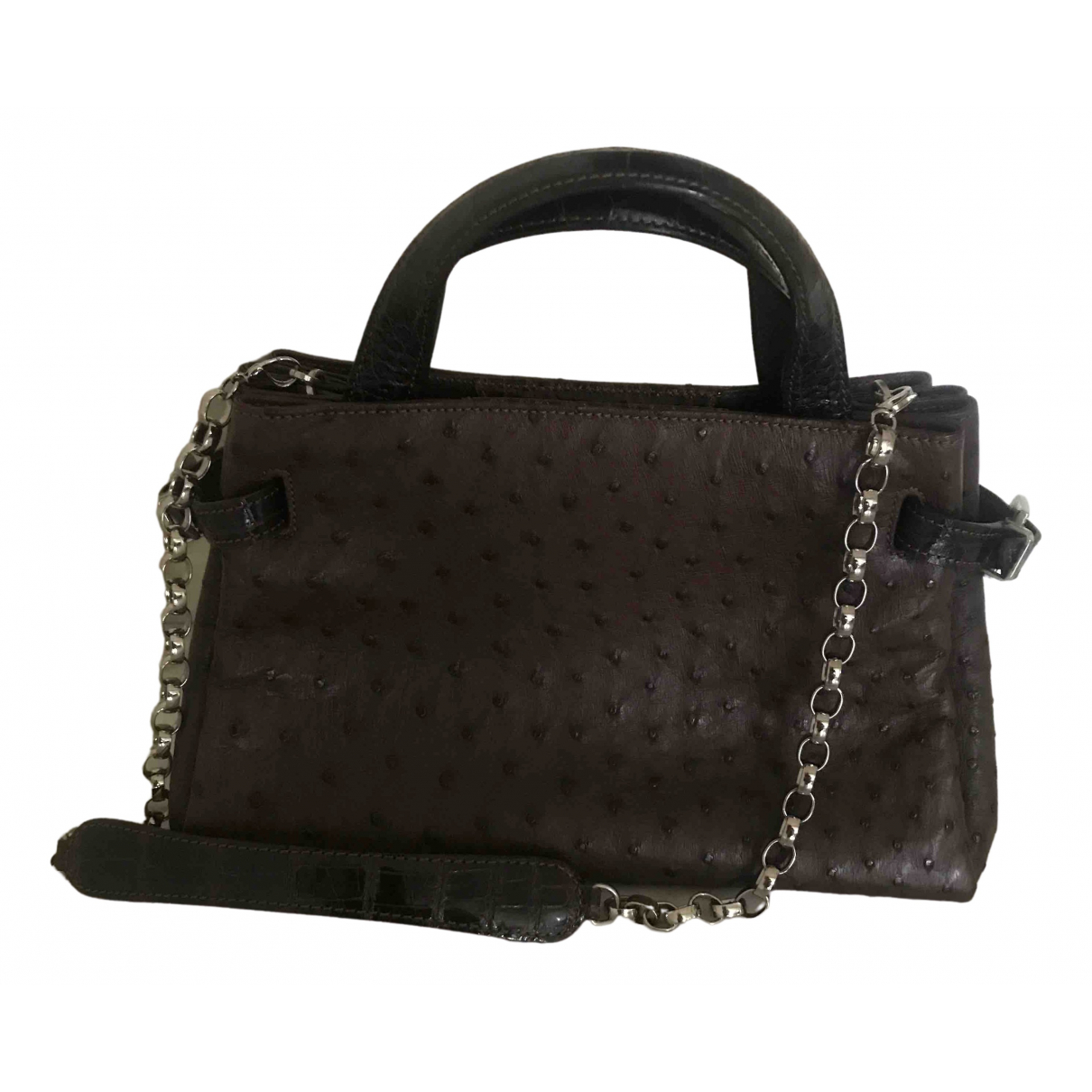 Colombo \N Handtasche in  Braun Vogelstrauss