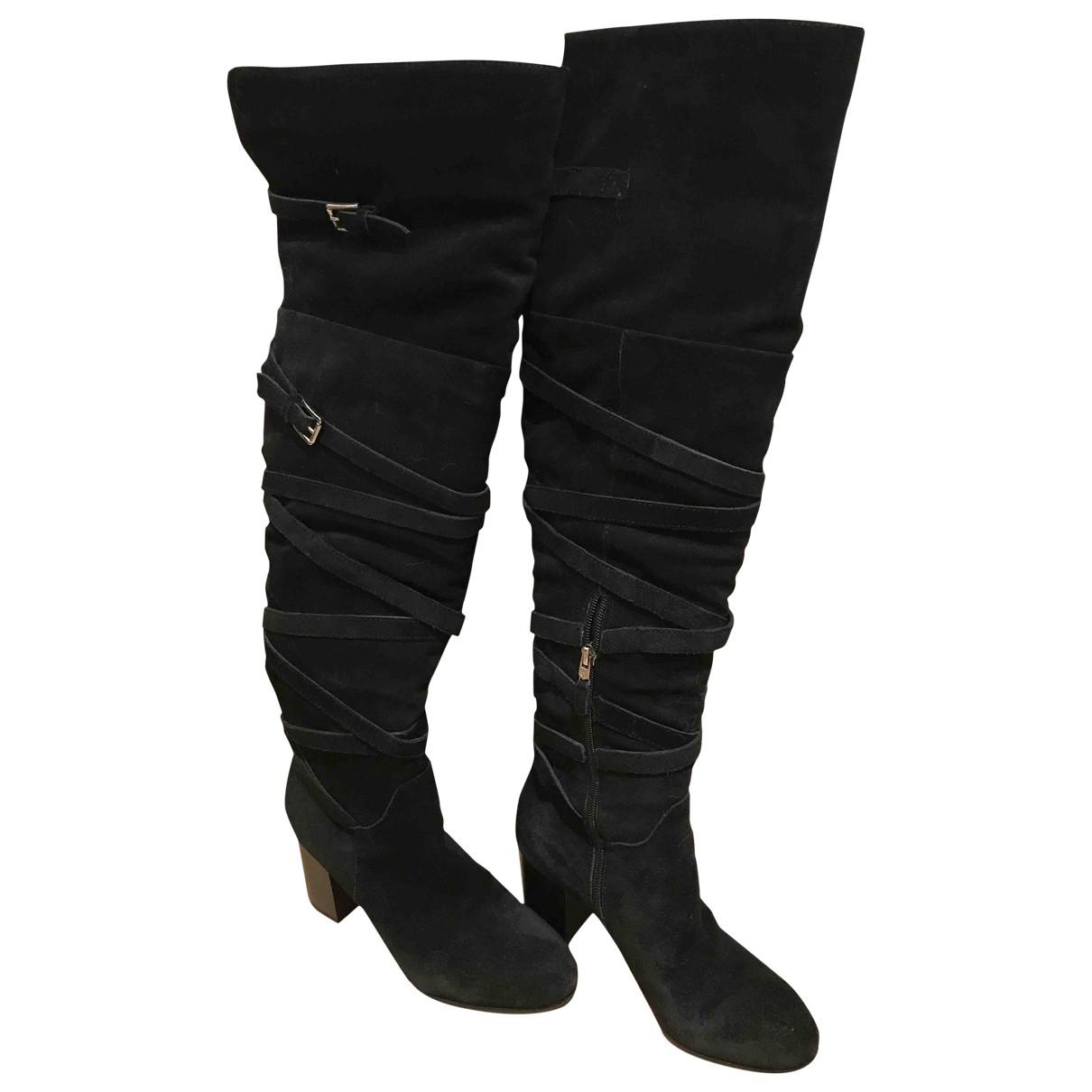 Sam Edelman \N Black Suede Boots for Women 37 EU