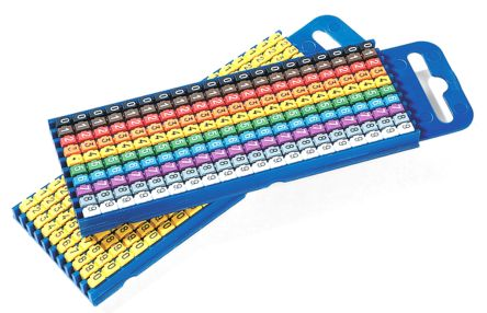 HellermannTyton Clip On Cable Marker Kit WIC1, 2 ? 2.8mm, 3000 Markers