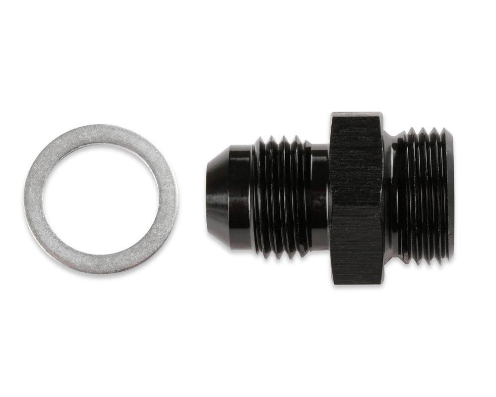 Mr. Gasket -8 AN To 5/8-10 Carburetor Fitting - Black with Gasket