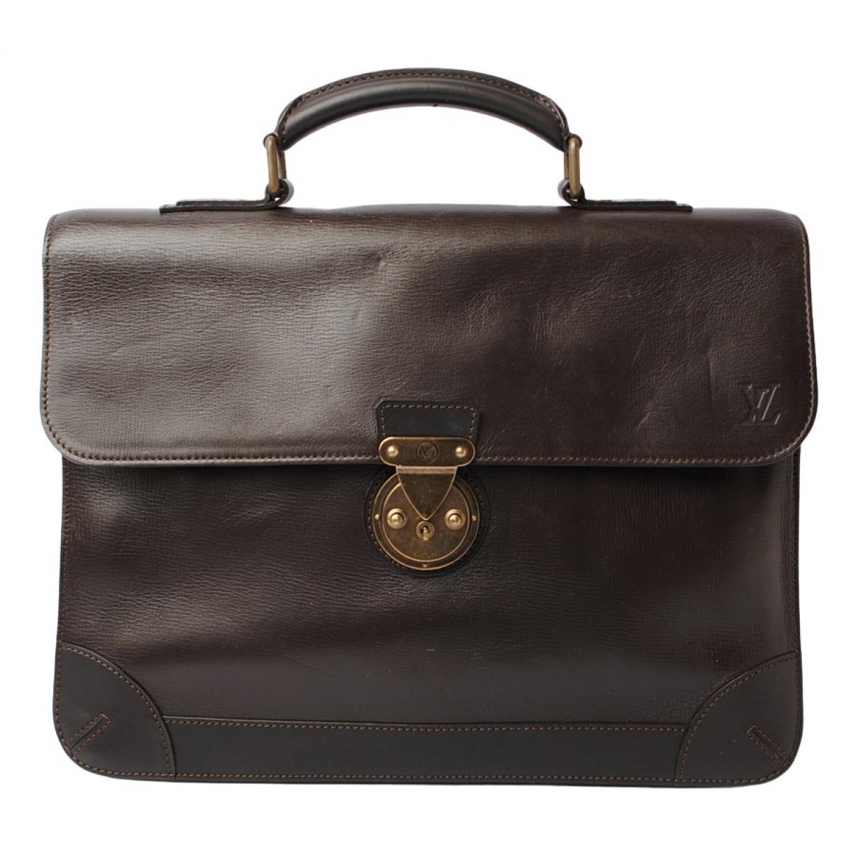 Louis Vuitton N Brown Leather handbag for Women N