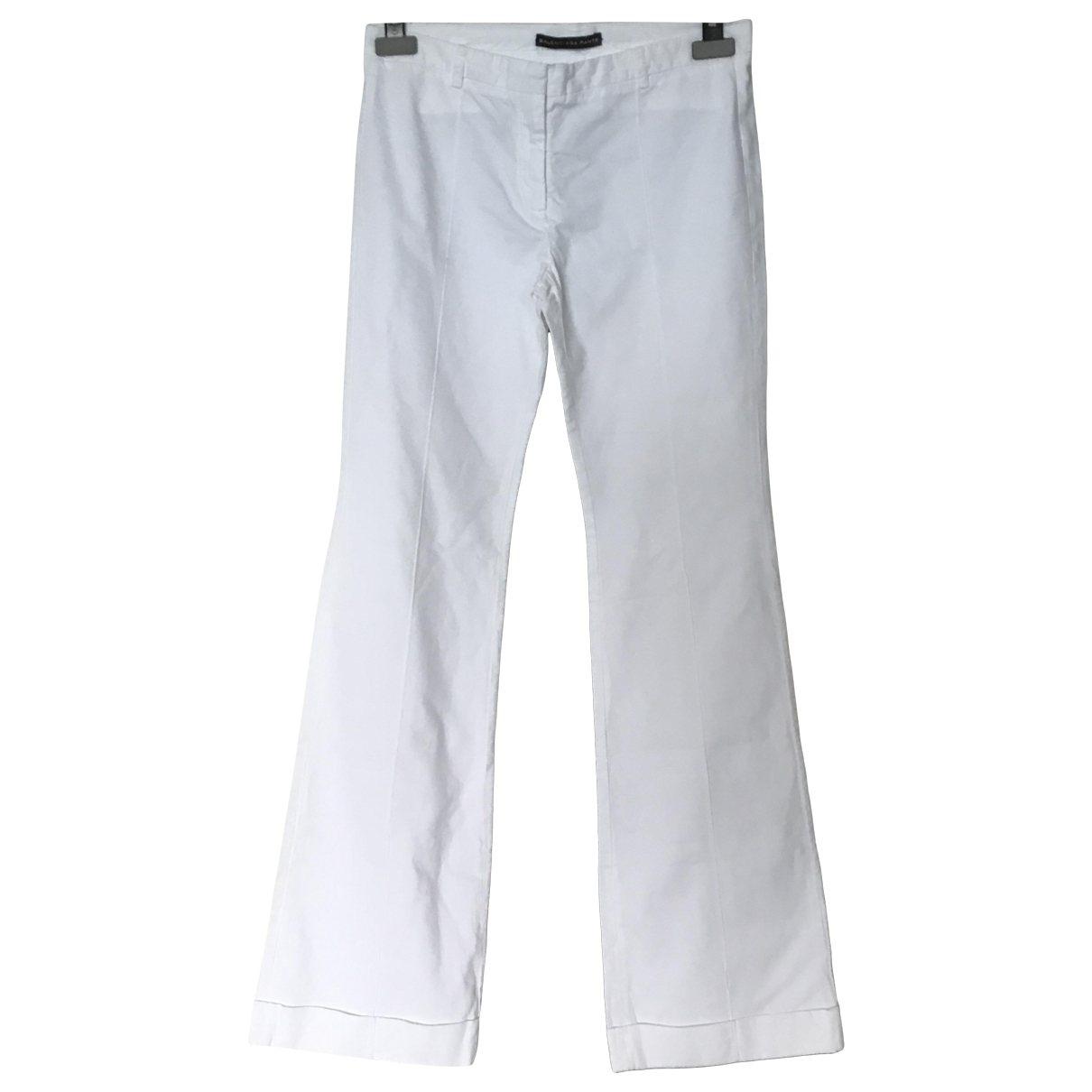 Balenciaga \N White Denim - Jeans Trousers for Women 38 FR