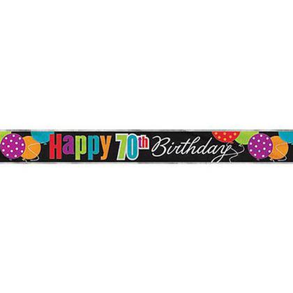 Joyeux anniversaire joyeux 70e anniversaire bannière décor de fête, 12 pieds Pour la fête d'anniversaire