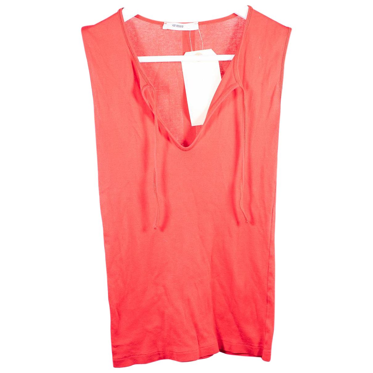 Vanessa Bruno - Top   pour femme en coton - rouge