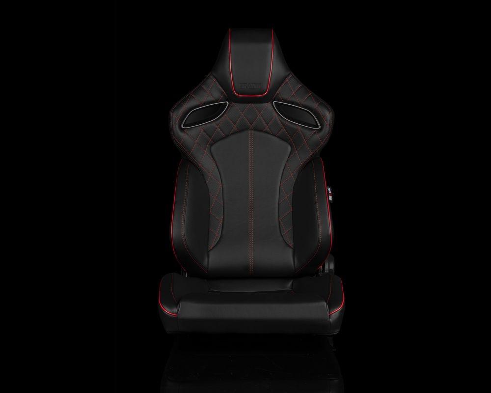 Braum Racing BRR6-BDRS Orue Series Sport Seats - Black Diamond (Red Stitching)
