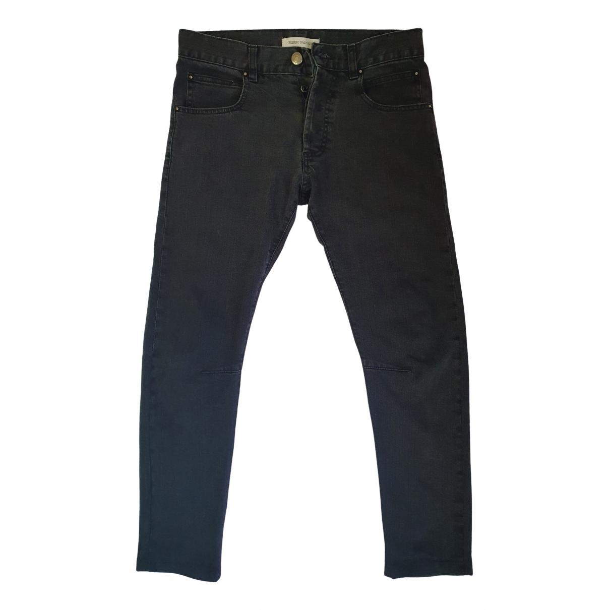 Pierre Balmain \N Anthracite Cotton - elasthane Jeans for Men 31 US