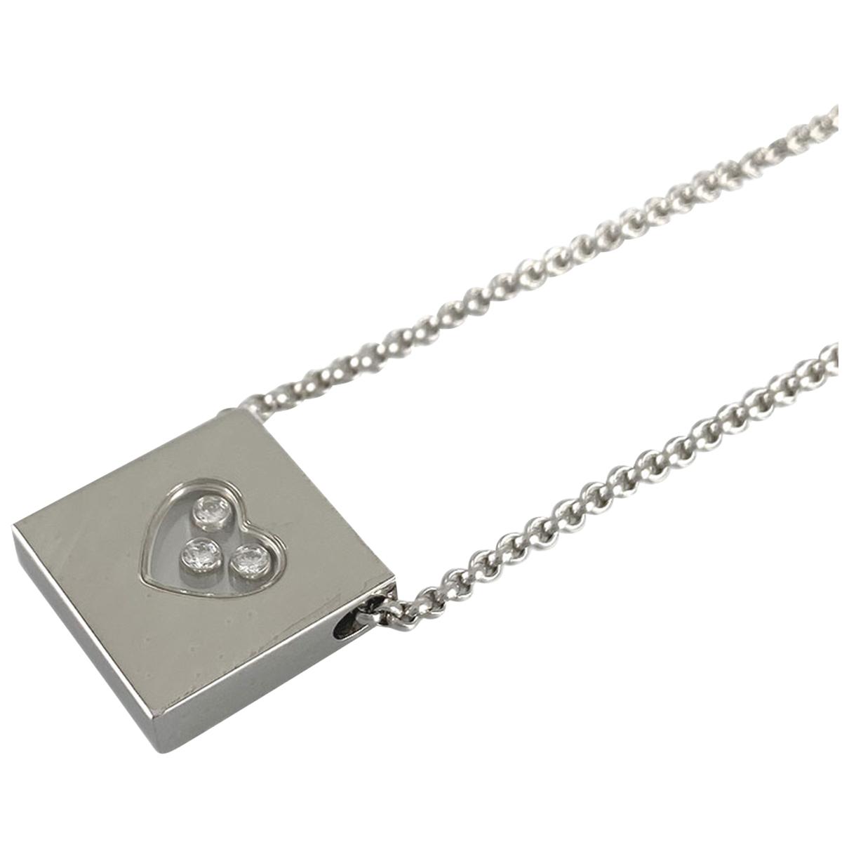 Chopard - Collier Happy Diamonds pour femme en or blanc - argente