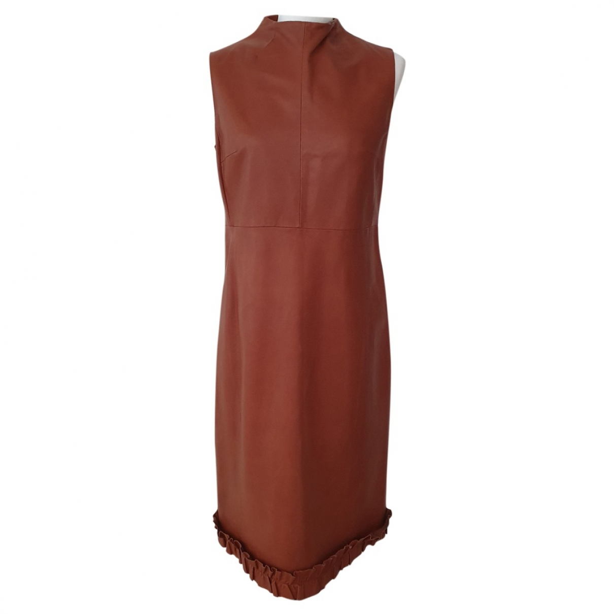 Bally \N Brown Leather dress for Women 44 IT