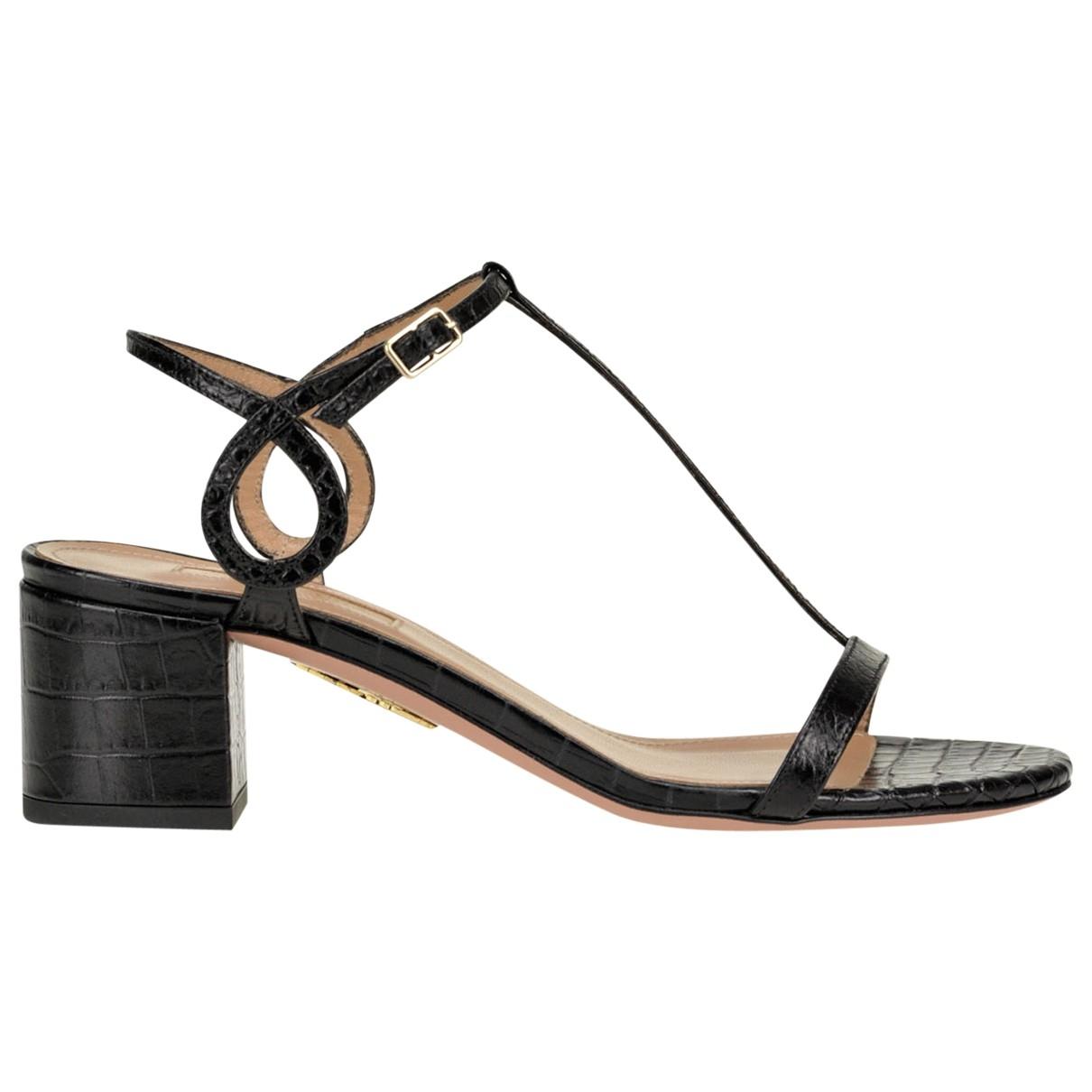 Aquazzura - Sandales   pour femme en cuir - noir