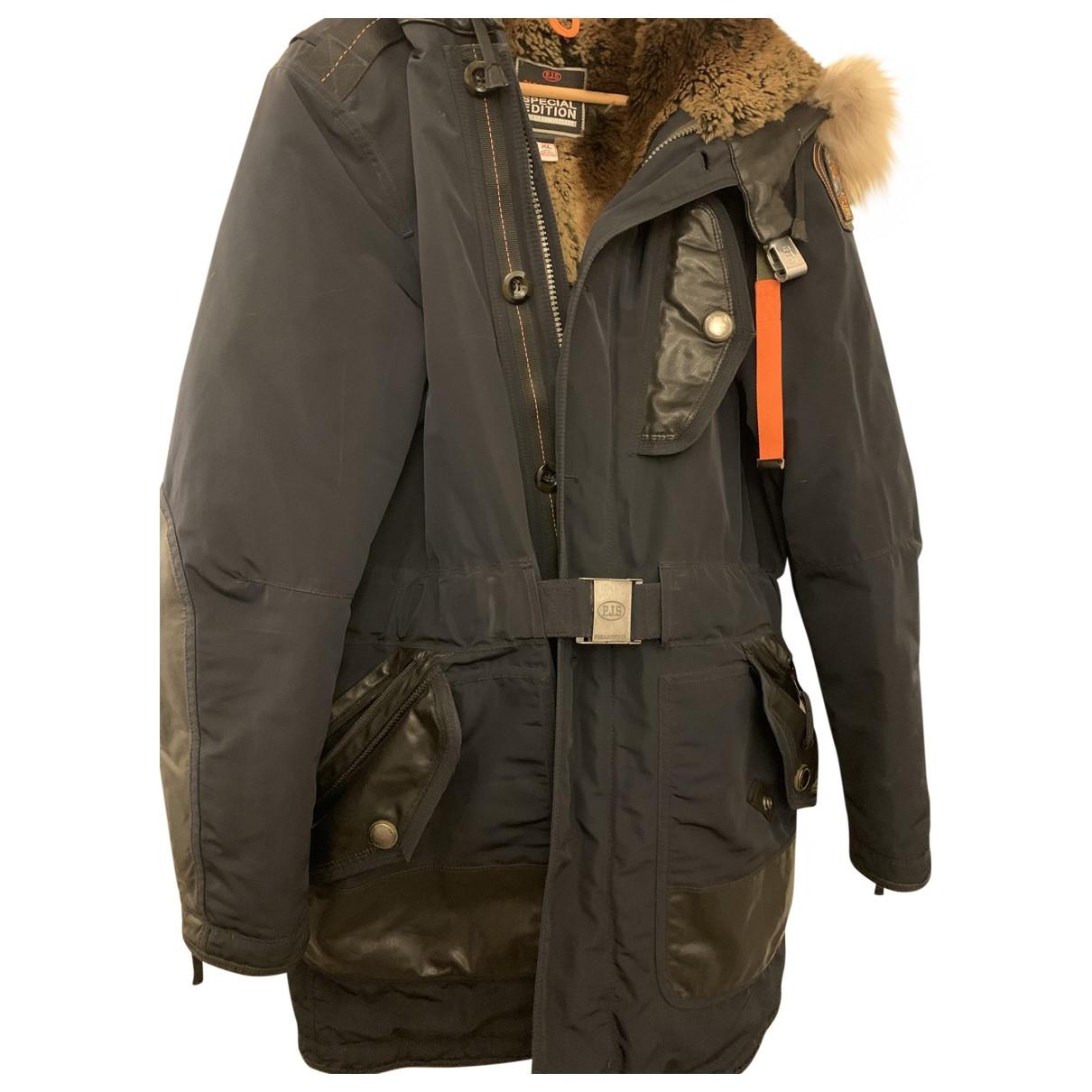 Parajumpers - Manteau   pour homme en cuir - bleu