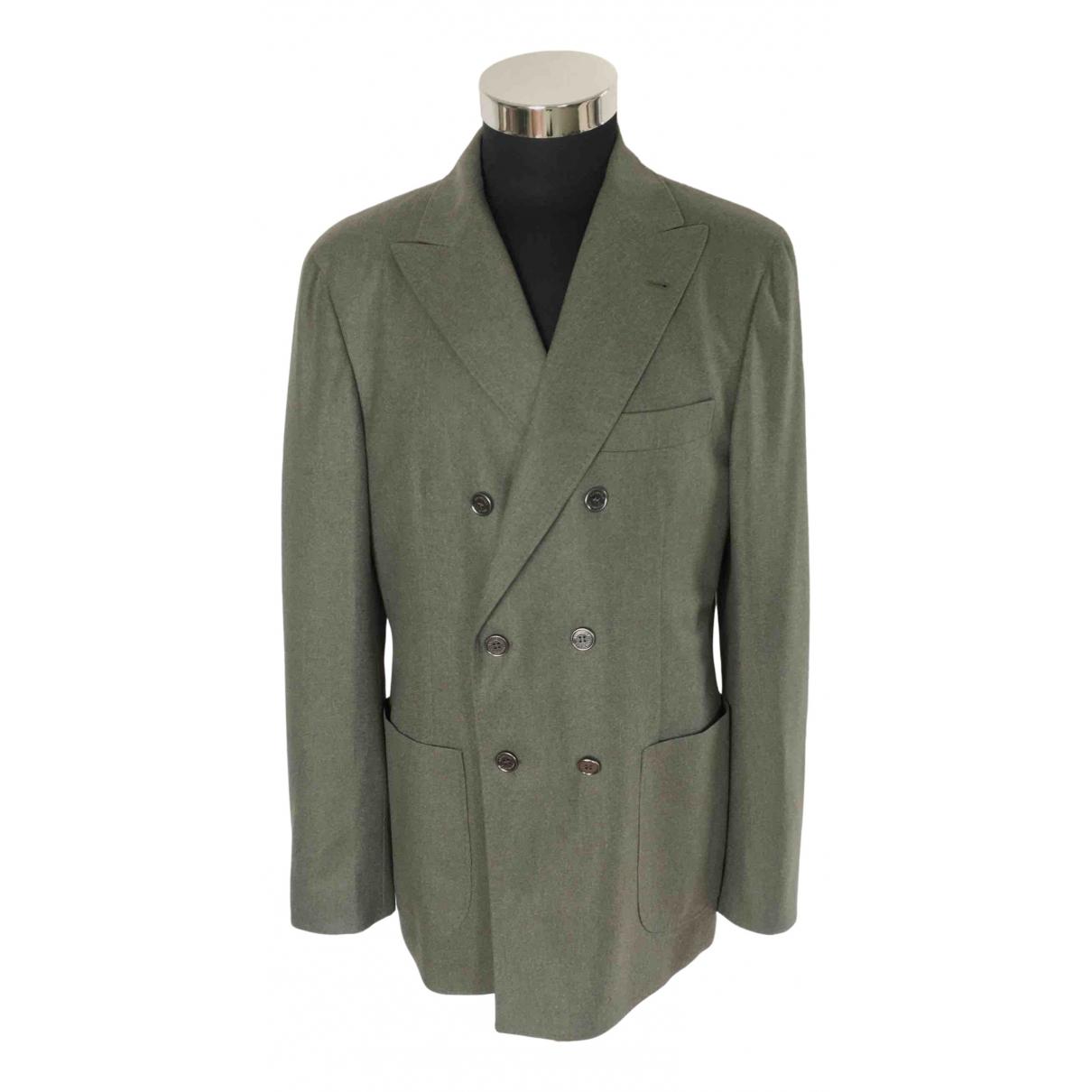 Brunello Cucinelli - Vestes.Blousons   pour homme en laine - vert
