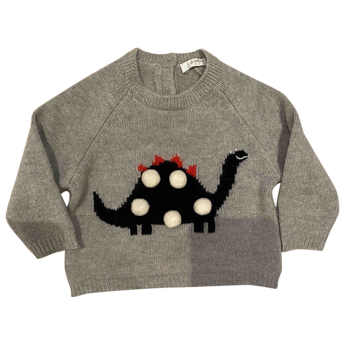 Il Gufo N Grey Wool Knitwear for Kids 6 months - up to 67cm FR