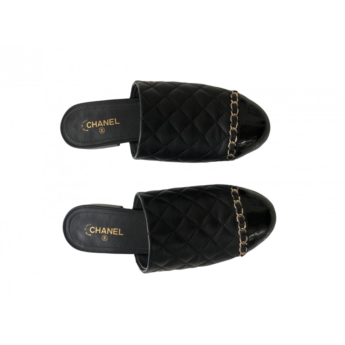 Chanel \N Mokassins in  Schwarz Leder