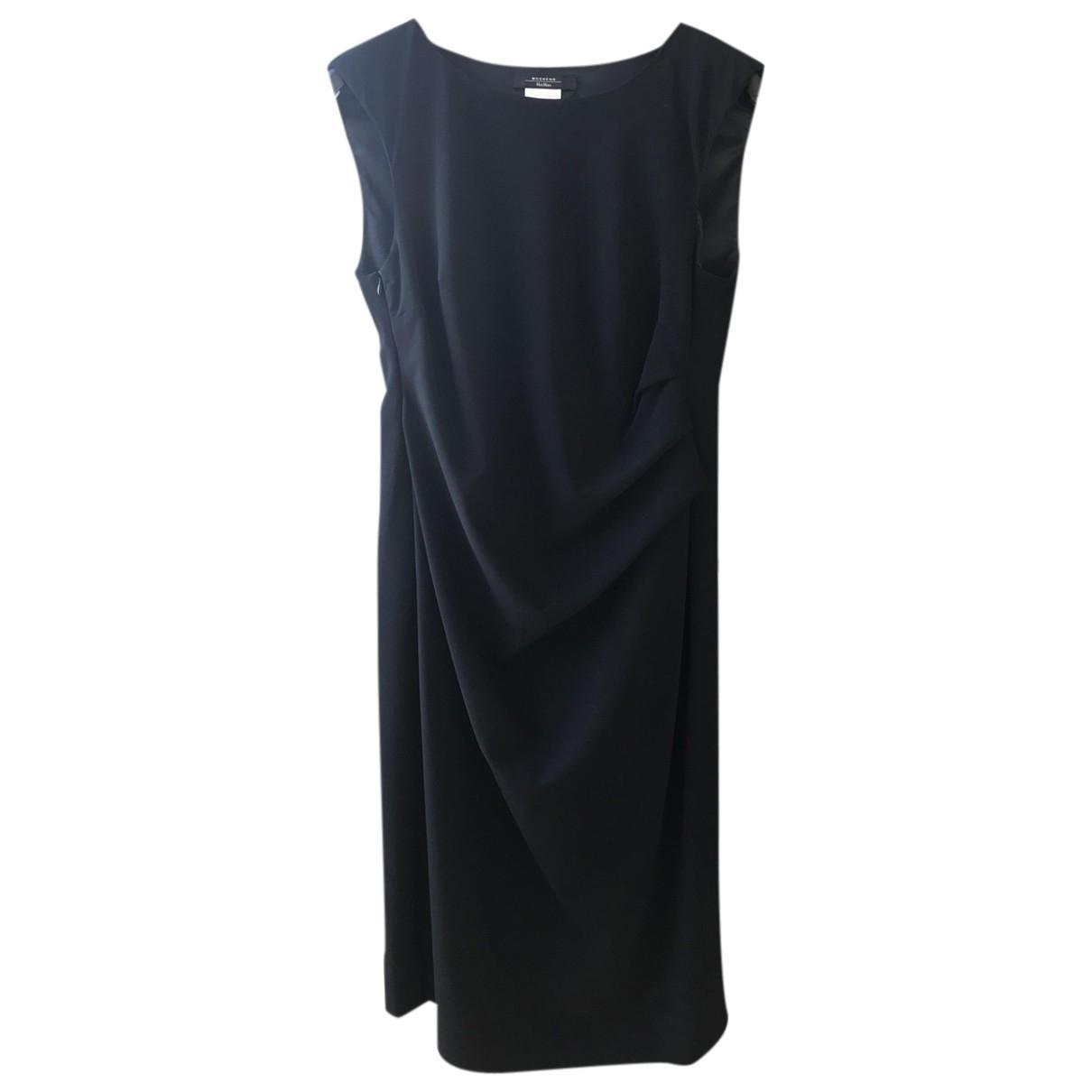 Max Mara Weekend \N Kleid in  Schwarz Polyester