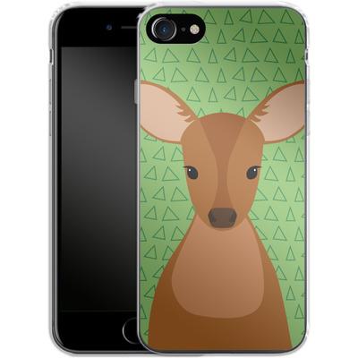 Apple iPhone 7 Silikon Handyhuelle - Deer on Green von caseable Designs