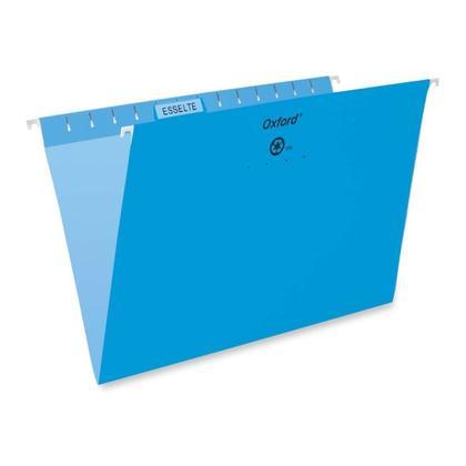 Pendaflex@ Essentials Esselte Oxford Colored Hanging File Folders - Blue ,Legal 486365