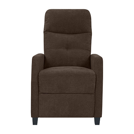 Tufted Prolounger Push Back Recliner w/Track-Arm, One Size , Brown