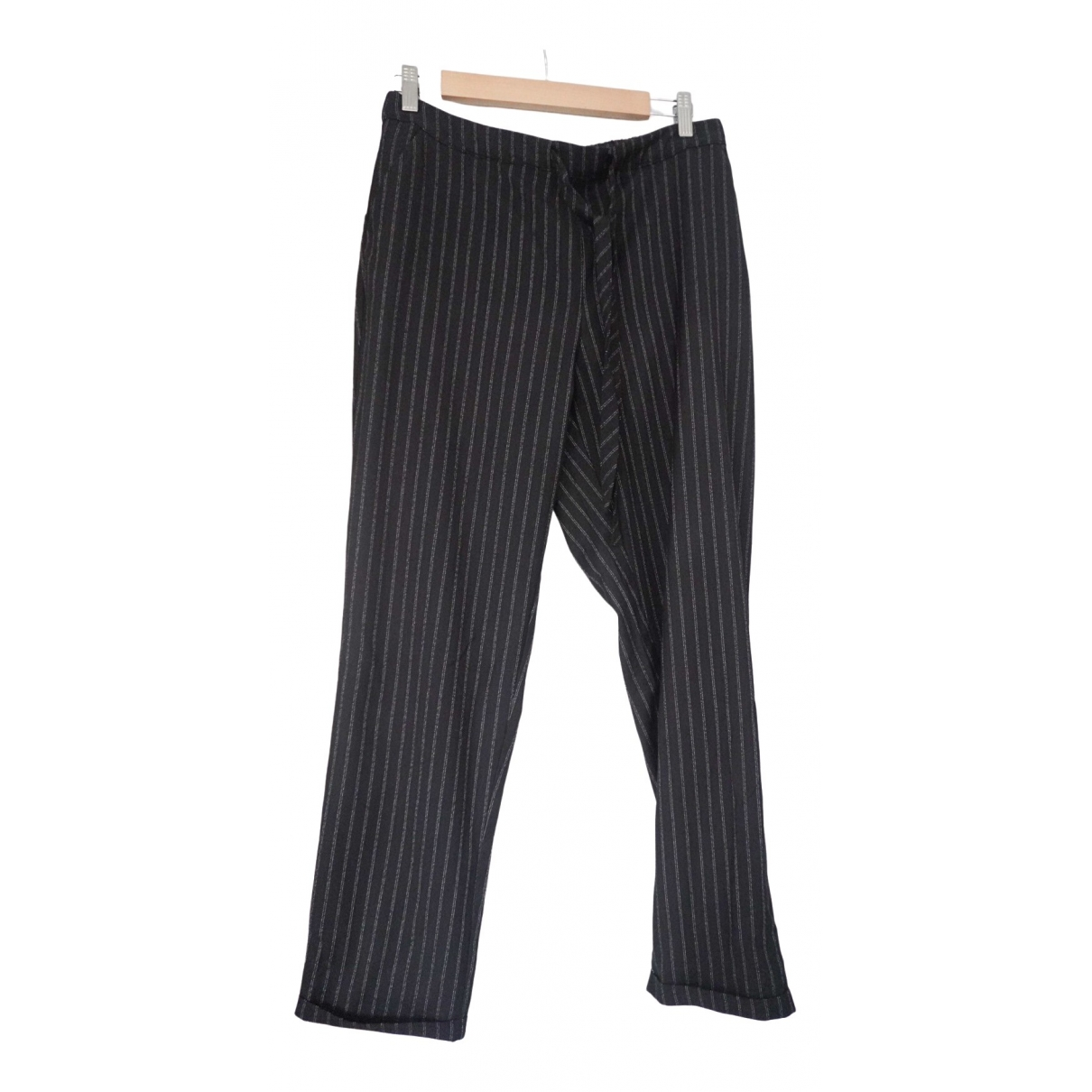 Mango \N Black Trousers for Women L International