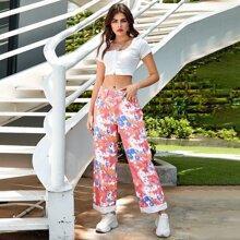 Jeans mit Batik