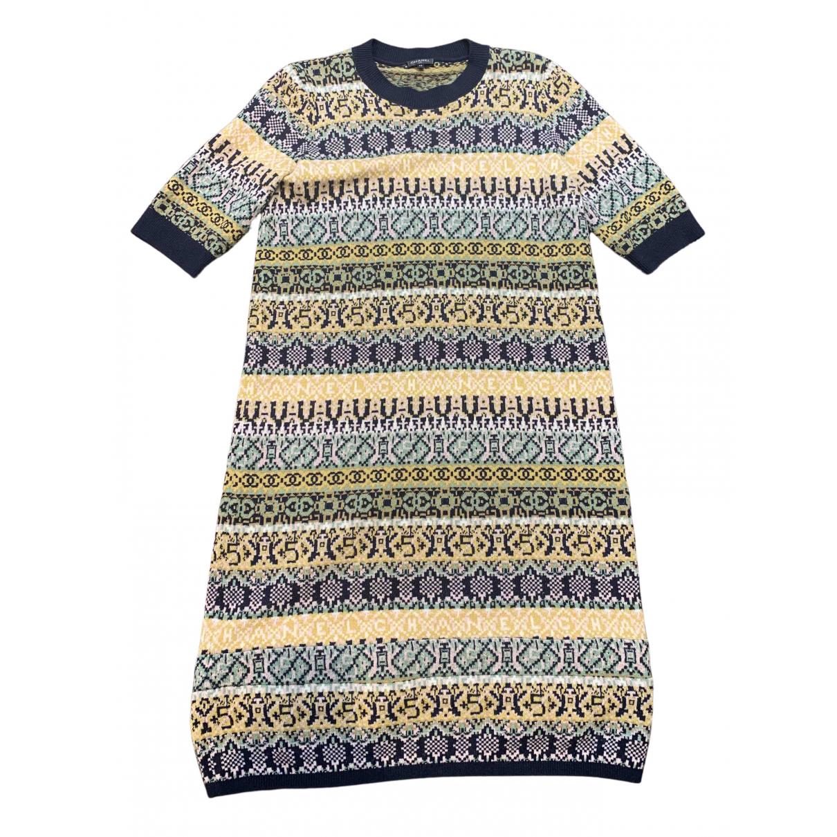 Chanel \N Blue Cashmere dress for Women 42 FR