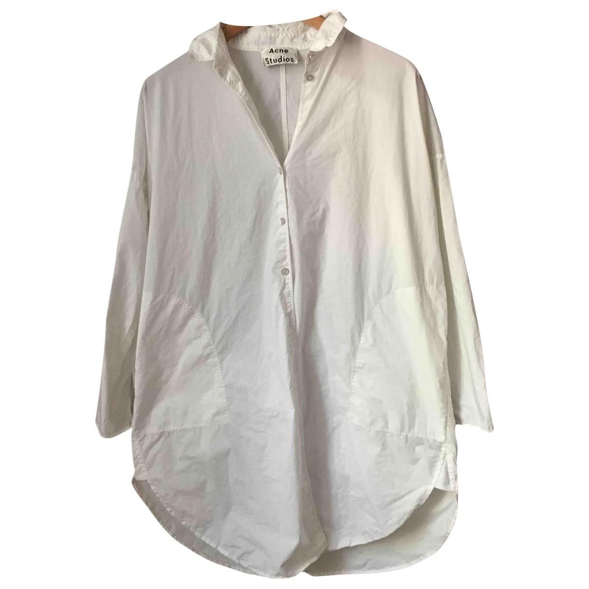 Acne Studios \N White Cotton dress for Women 32 FR