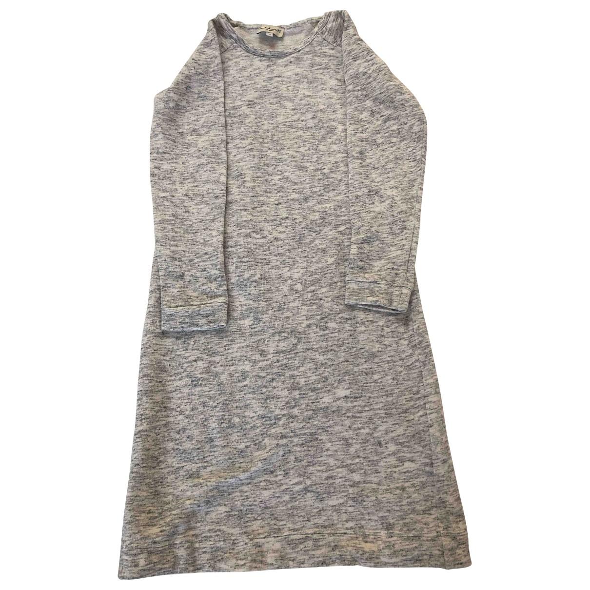 April Showers \N Kleid in  Anthrazit Baumwolle