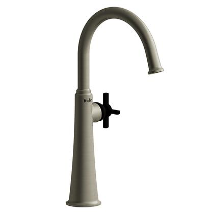 Momenti MMRDL01+BNBK-10 Single Hole Lavatory Faucet with + Cross Handle 1.0 GPM  in Brushed