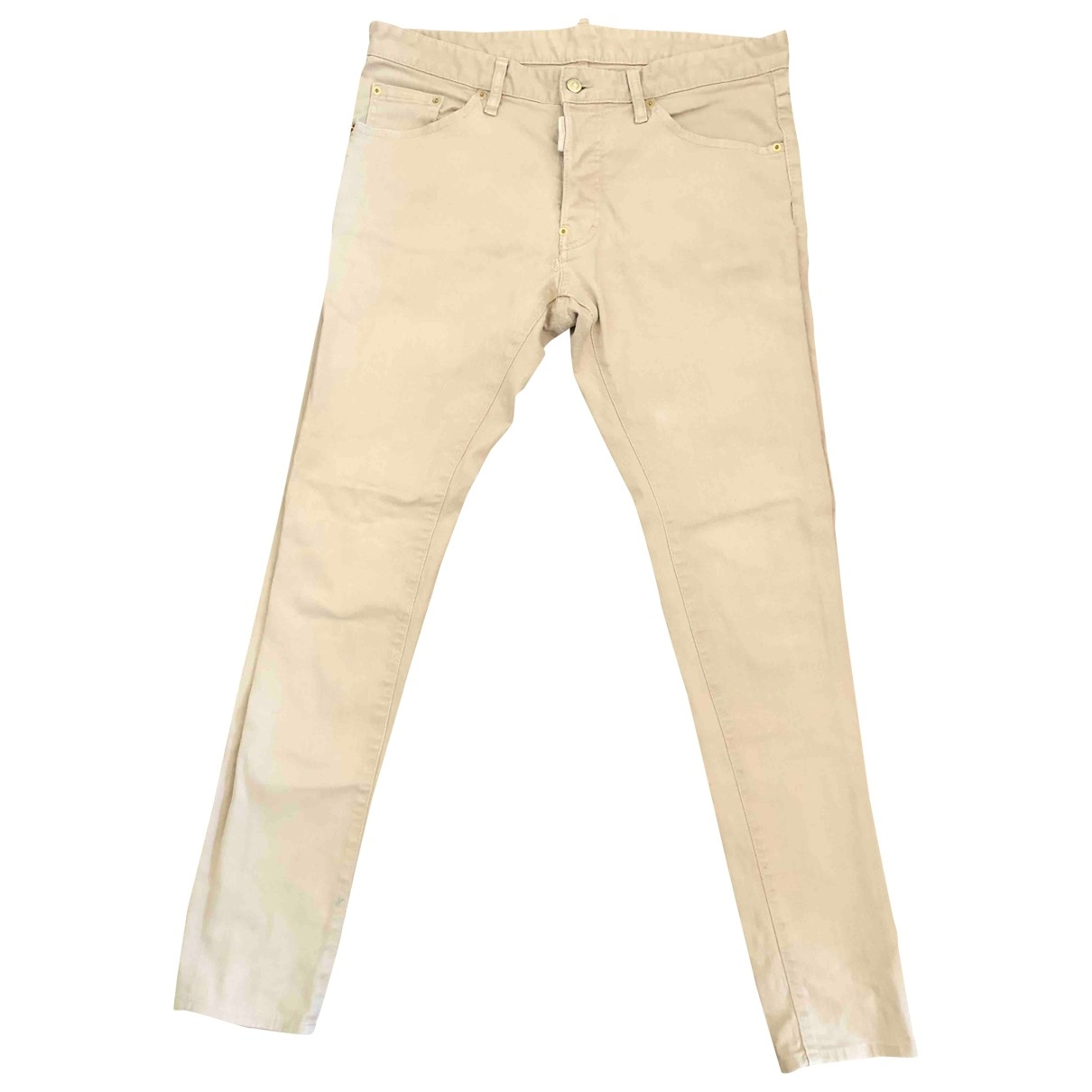 Dsquared2 \N Beige Cotton Jeans for Men 42 FR