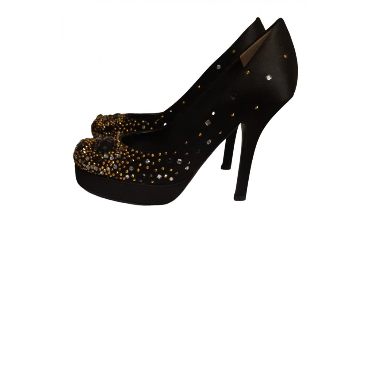 D&g N Black Cloth Heels for Women 38 EU