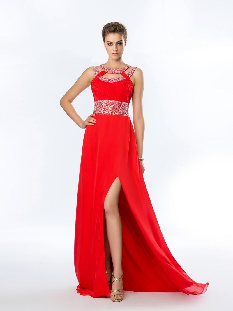 al A-Line Beading Prom Dress