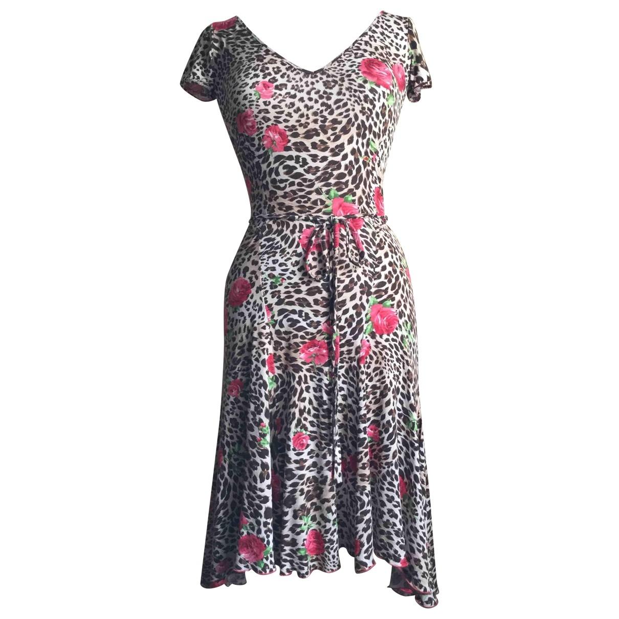 Blumarine \N Kleid in  Beige Viskose