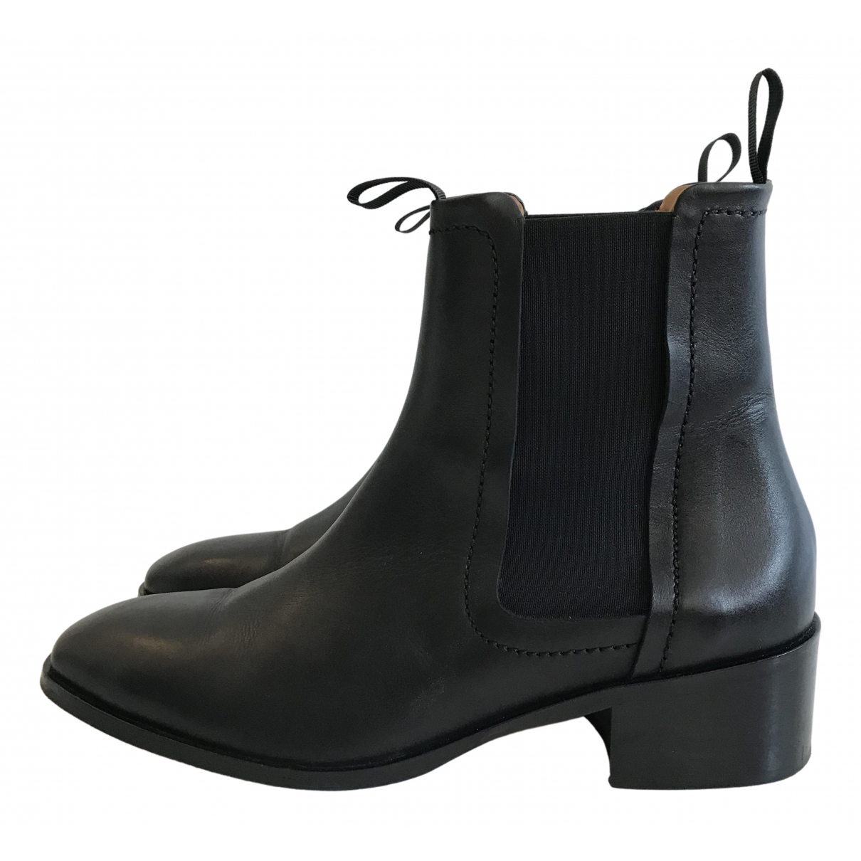 Whistles \N Black Leather Boots for Women 40 EU