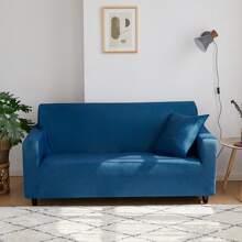 Einfarbiger dehnbarer Sofabezug ohne Kissen