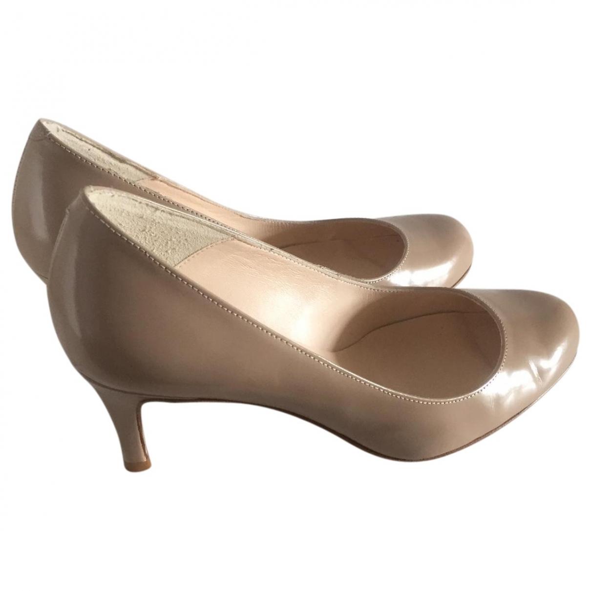 Lk Bennett \N Beige Leather Heels for Women 36 EU