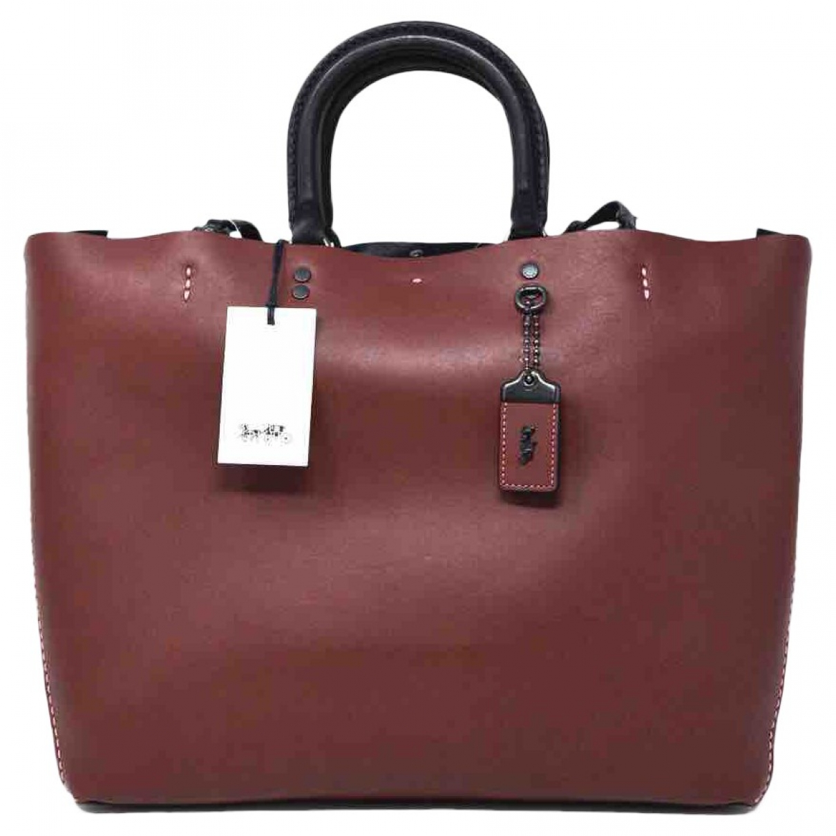 Coach \N Handtasche in  Bordeauxrot Leder
