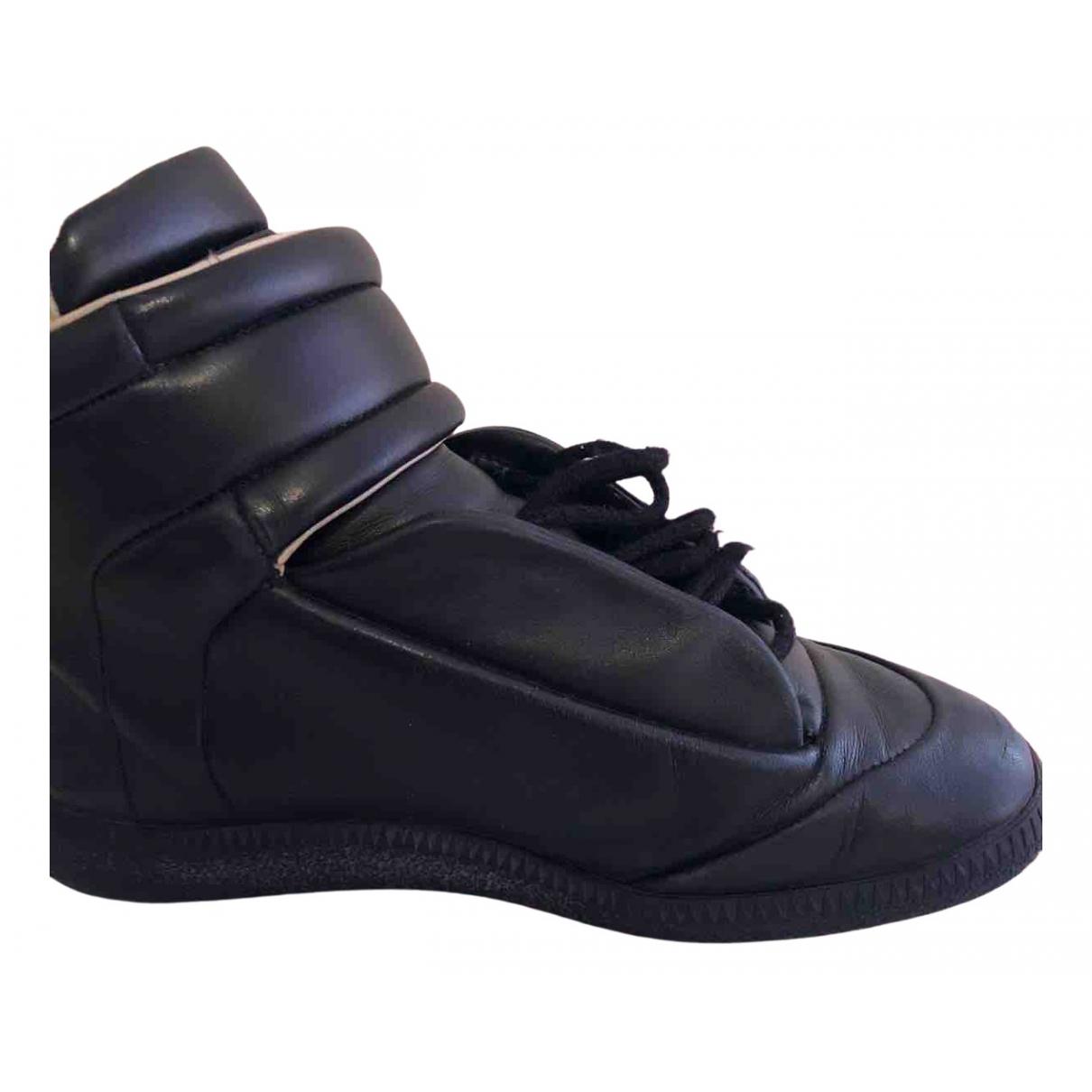 Maison Martin Margiela - Baskets   pour femme en cuir - noir