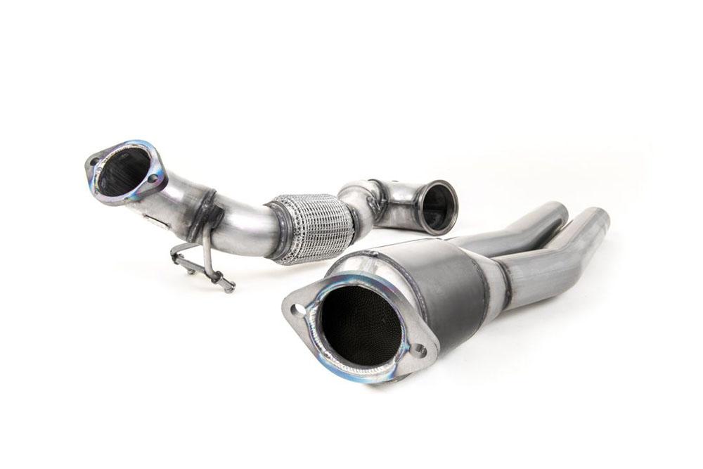 Milltek SSXAU726 Large Bore Downpipe w/ Hi-Flow Sports Catalyst (For All Exhausts) Audi RS3 Saloon / Sedan 400PS (8V MQB) - Non-OPF/GPF Models 2017-20