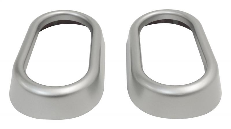 RT Offroad RT27024 Door Handle Accents for 07-10 Jeep JK Wrangler, Set of 2, Plastic, Silver Jeep Wrangler N/A 2007-2010