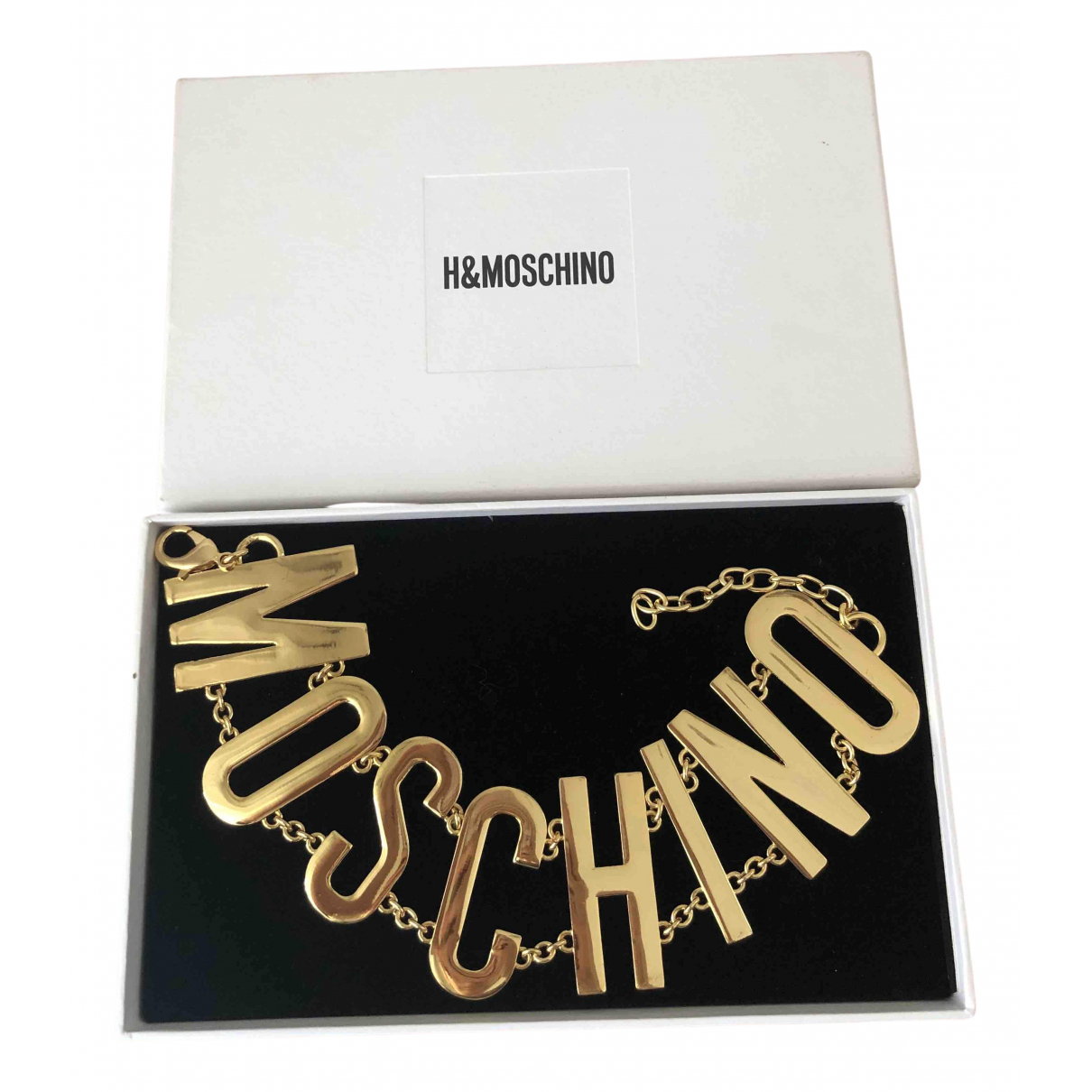 Moschino \N Kette in  Gold Metall
