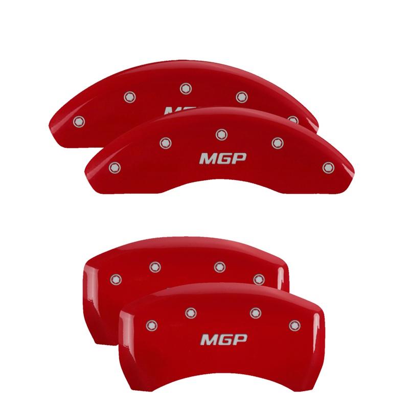 MGP Caliper Covers 15226SMGPRD Set of 4: Red finish, Silver MGP Audi