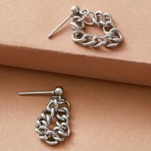 1pair Chain Drop Earrings