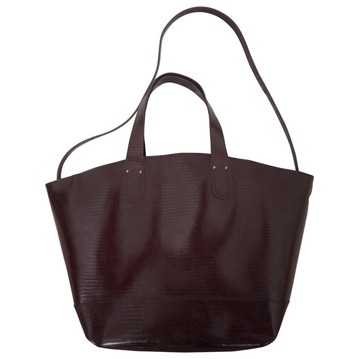 tophop \N Brown Leather handbag for Women \N